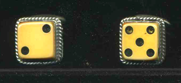 Vintage Dice Cuff Links